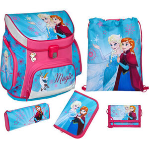 Scooli Schulranzen-Set Campus UP Frozen, 5-tlg., hellblau/rosa