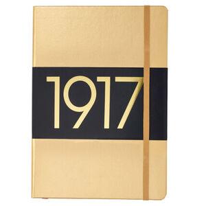 Leuchtturm1917 Wochenkalender und Notizbuch, Medium A5, gold, gold