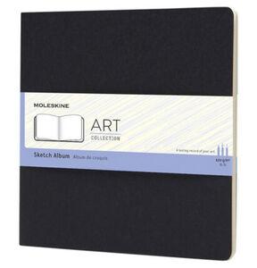 Moleskine® Skizzenalbum, Karton Einband, Square, 120g-Papier, Schwarz