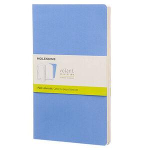 Moleskine® Volant , 2er Set, Weicher Einband, DIN A5, Blanko, Puderblau, Königsblau