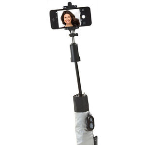 happy rain Selfie-Stick Schirm