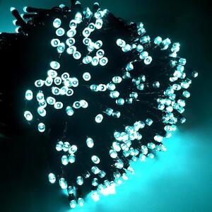 400er LED-Lichterkette eisblau mit 8 Funktionen für Außen & Innen
