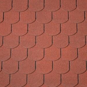 Easy Biber-Dachschindeln ,  ziegelrot, 80 x 33,6 cm