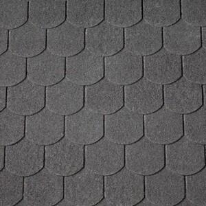 Easy Biber-Dachschindeln ,  schwarz, 80 x 33,6 cm
