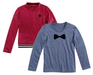 alive®  2 Kinder-/Kleinkinder-Langarmshirts oder 1 Nicki-Pullover