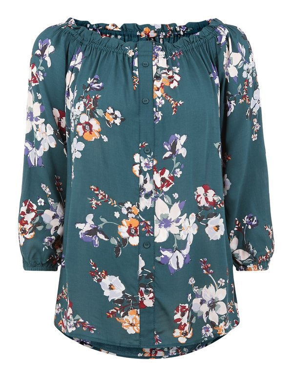 Damen Bluse im Off Shoulder Look