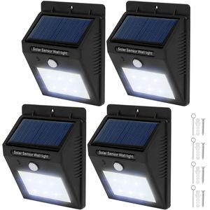 4 LED Solar Leuchten mit Bewegungsmelder