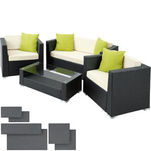 Rattan Lounge mit Aluminiumgestell München inkl. Bezüge in 2...