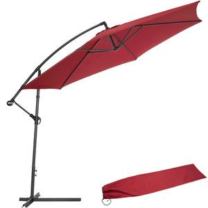 Sonnenschirm Ampelschirm Ø 350cm mit Schutzhülle rot