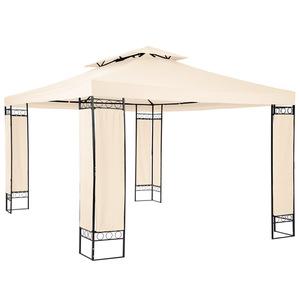 Garten Pavillon Luxus 390x290x265cm creme