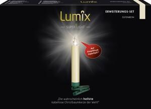 Krinner Lumix Superlight ,  Erweiterungsset, 5 LED Kerzen, elfenbein