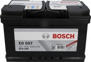 Bosch Eco Line SLI-Batterie, 70 Ah, 640 A ,  Maße: 278 x 175 x 175 mm (L x B x H)