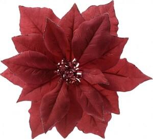 Kaemingk Poinsettia auf Klipp ,  rot
