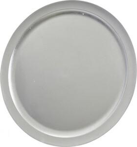 Kaemingk Kunststoffteller ,  Ø 40 cm, silber
