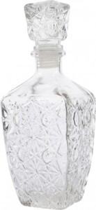 Kaemingk Glasflasche Struktur ,  klar,8 x 8 x 20 cm