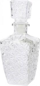 Kaemingk Glasflasche Struktur ,  klar,9.5  x 9,5 x 24 cm