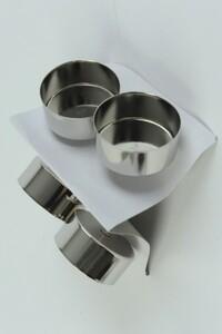 Kaemingk Metall-Teelicht mit Dorn ,  4,2 x 7,5 cm, silber