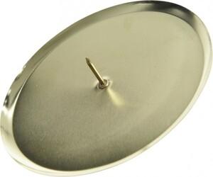 Kaemingk Metall-Adventskerzenhalter ,  Ø 8 cm, hellgold