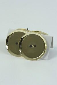 Kaemingk Metall-Adventskerzenhalter ,  Ø 10 cm, hellgold