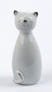 TrendLine Dekofigur Katze ,  6,5 x 6,5 x 16,5 cm