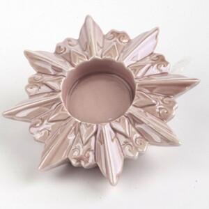TrendLine Windlicht Keramik ,  12 x 12 x 3 cm