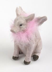 TrendLine Dekofigur Schwein ,  8 x 10 x 16 cm