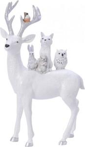 Kaemingk Hirsch Tiere auf Rücken ,  weiß, 1,7 x 16,5 x 27 cm