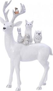 Kaemingk Hirsch Tiere auf Rücken ,  weiß, 1,15 x 24 x 40 cm