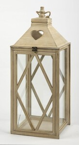 TrendLine Holz-Laterne ,  20 x 19,5 x 56 cm