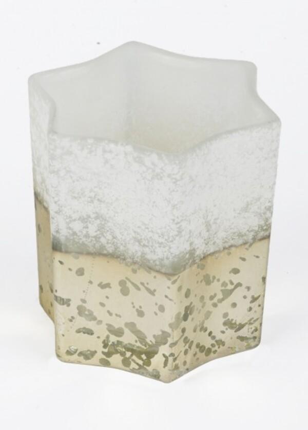 TrendLine Glas Windlicht Stern ,  11 x 11 x 12 cm