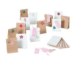 Adventskalender- und Geschenktüten-Set