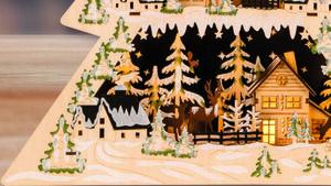 Winterszene aus Holz