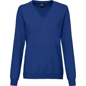 Adagio Damen Cashmere-Pullover mit V-Ausschnitt