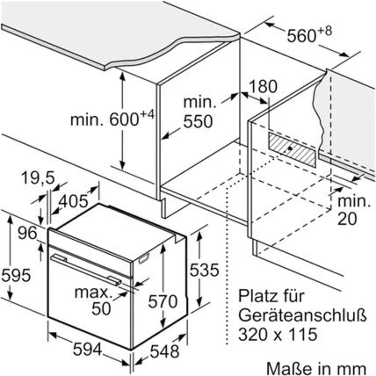 Bild 4 von Bosch HND 411VS61 Einbauherd-Set mit Teleskopauszug, A