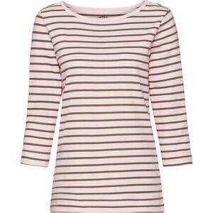 Adagio Damen T-Shirt mit U-Boot-Ausschnitt, geringelt