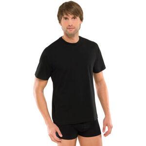 """Schiesser Herren American T-Shirt """"008150-000"""", 2er-Pack, schwarz, M"""