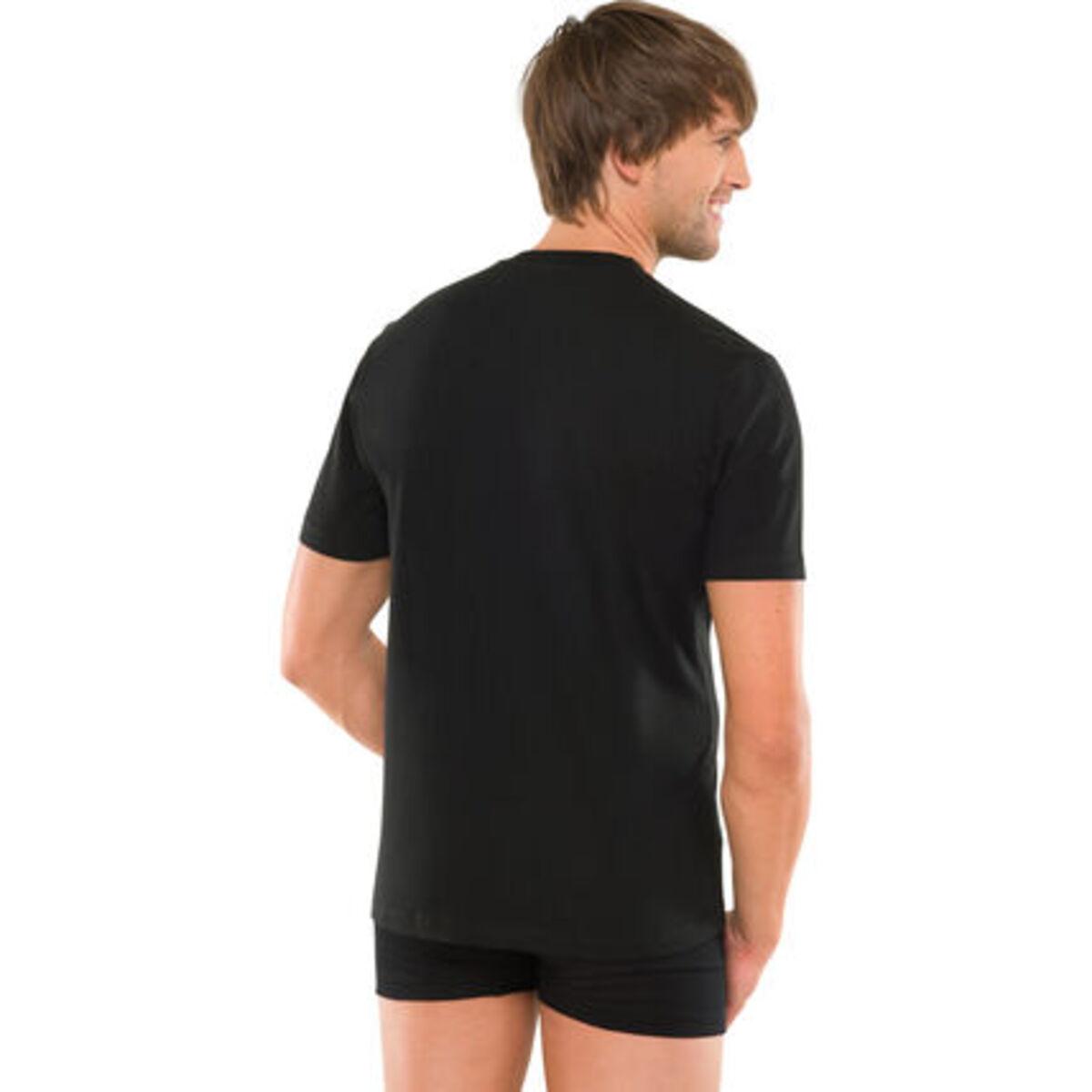 """Bild 2 von Schiesser Herren American T-Shirt """"008150-000"""", 2er-Pack, schwarz, M"""