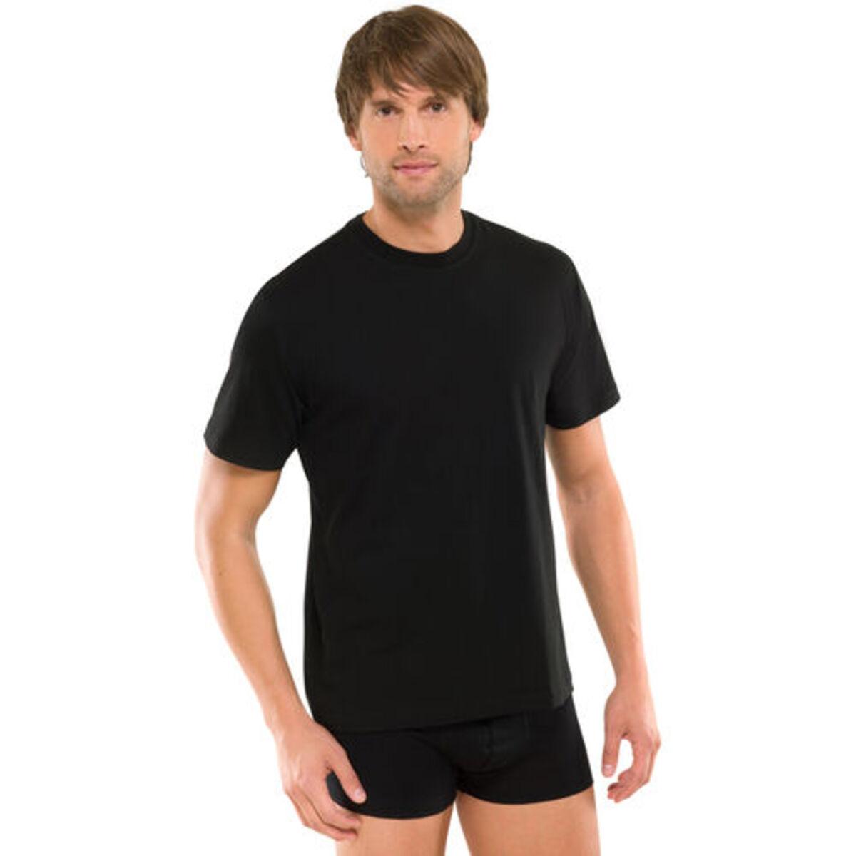 """Bild 3 von Schiesser Herren American T-Shirt """"008150-000"""", 2er-Pack, schwarz, M"""