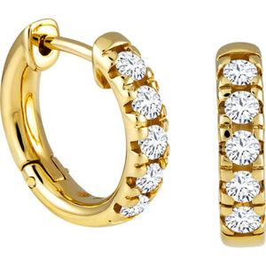 Vandenberg Damen Creolen, 585er Gelbgold mit Diamanten, gold