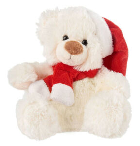 Bob Weihnachts-Teddybär, weiß/rot