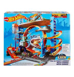 Mattel City Ultimative Garage mit Hai-Angriff