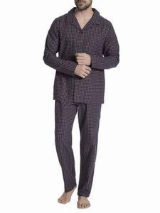 Seidensticker Herren Schlafanzug, dunkelrot, 56, Burgund, 56