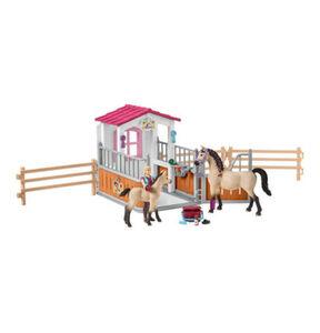 Schleich Horse Club - Pferdebox mit Arabern und Pferdepflegerin