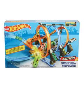 Mattel Korkenzieher-Crash Track-Set