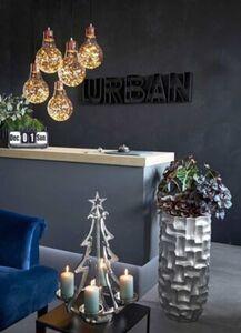 Pureday LED-Dekoleuchte 'Glühlampe Eddi', Kupferfarben, Ø 21 cm, kupferfarben