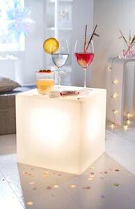 Pureday LED-Deko-Leuchte 'Cube', Weiß, weiß