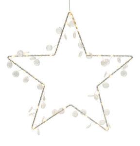 Galeria Selection Leucht-Stern, Weihnachten, 40 LEDs, für Außen, 30 x cm, weiß