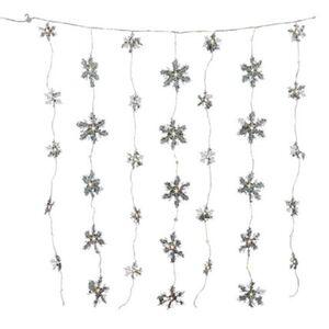 Pureday LED-Vorhang 'Schneeflocken', Weiß, weiß