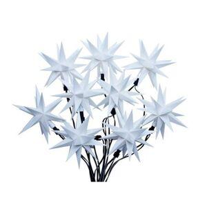 Pureday LED-Lichterkette '3D-Sterne', Weiß, weiß