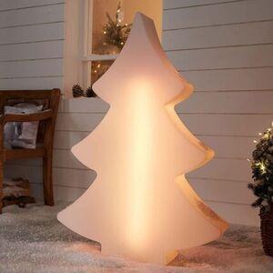 Pureday LED-Tannenbaum 'Modern', Weiß, klein, weiß